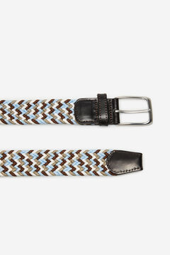 Cortefiel Woven fabric belt Natural