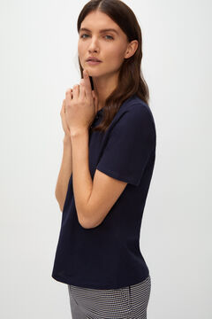Cortefiel Essential piqué polo shirt Navy