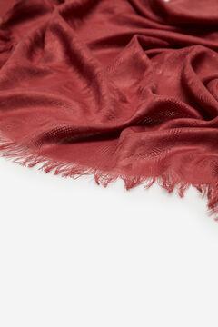 Cortefiel Textured houndstooth scarf Purpura