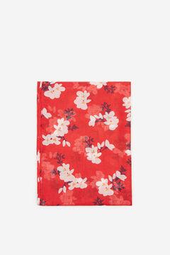 Cortefiel Fular fino estampado flores Rojo