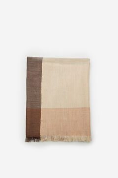 Cortefiel Checked lurex scarf Stone
