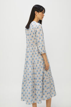 Cortefiel Dress with earrings and crossed