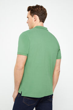 Cortefiel Short-sleeved logo polo shirt Green