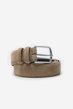 Cortefiel Plain leather belt Mole