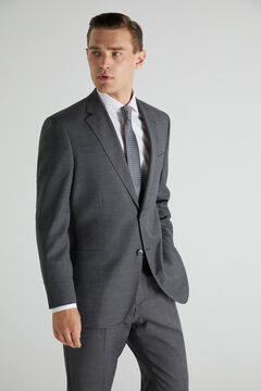 Cortefiel Classic fit houndstooth suit blazer Gray