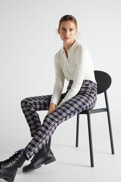 Cortefiel Skinny trousers Kaki
