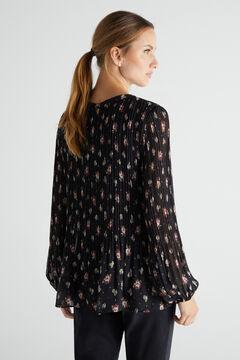 Cortefiel Camisa plisada confort Gris