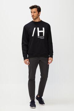 Cortefiel Men's logo sweatshirt Black
