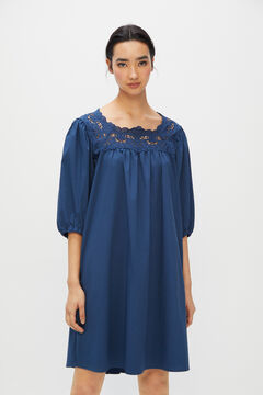 Cortefiel Short cotton dress Navy