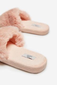 Cortefiel Fur slippers Pink