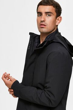 Cortefiel Waterproof removable lining jacket Black