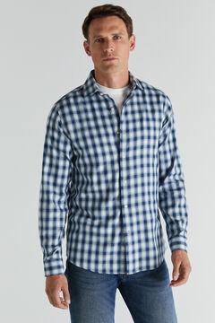 Cortefiel Checked shirt Stone