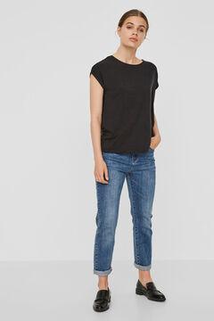 Cortefiel Camiseta tejido sostenible Negro