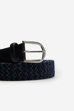 Cortefiel Cinturón trenzado textil Azul