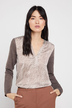 Cortefiel Combined soft feel top Brown