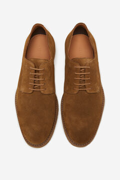 Cortefiel Lace-up rubber-soled shoes Camel