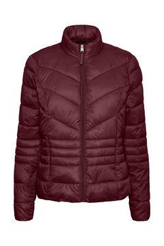 Cortefiel Ultralight quilted coat Plum