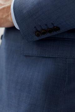 Cortefiel Classic fit birdseye blazer Blue