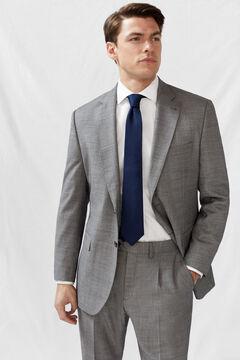 Cortefiel Classic fit birdseye blazer Grey