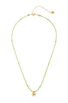 Cortefiel Collar corto SUMMER de cuentas Verde