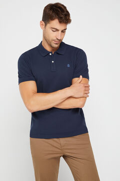 Cortefiel Essential short-sleeved polo shirt Navy