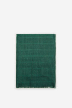 Cortefiel Lurex stripe textured scarf Green