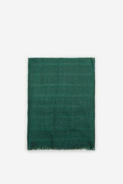 Cortefiel Fular textura raya lúrex Verde