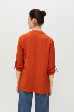 Cortefiel Lightweight peak hem jacket Red