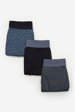 Cortefiel Pack 3 boxers malha Azul