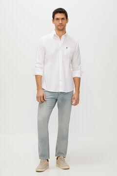 Cortefiel Slim fit organic light wash jeans Light blue