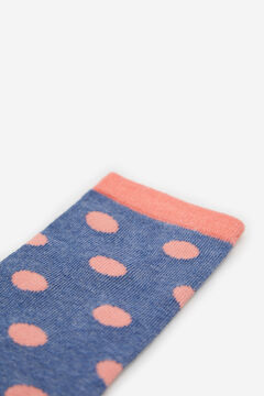 Cortefiel Knee length polka-dot print socks Navy