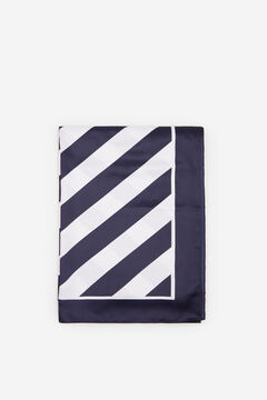 Cortefiel Navy blue striped silk feel scarf Navy