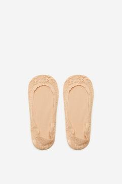 Cortefiel Lace no-show socks Stone