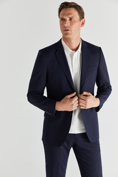 Cortefiel Navy blue slim fit blazer Navy