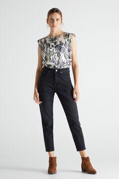 Cortefiel Mom fit jeans Black