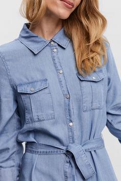 Cortefiel Midi shirt dress Royal blue
