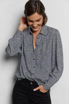 Cortefiel Camisa tejido sostenible Gris