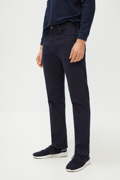 Cortefiel Regular fit 5-pocket coloured jeans in COOLMAX ECOMADE ALL SEASON® fabric Navy