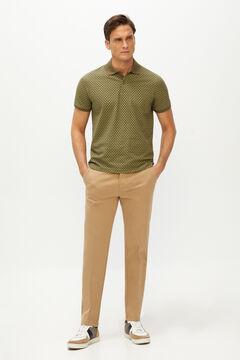 Cortefiel Pantalón cintura elástica estructura slim fit Beige