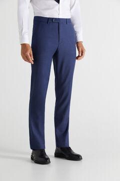 Cortefiel Blue slim fit stain resistant trousers Blue