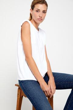 Cortefiel Sleeveless top White