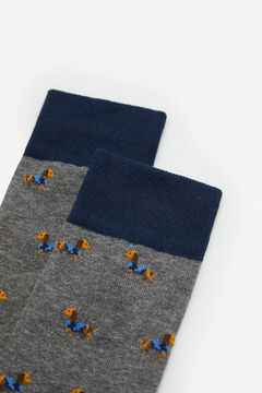 Cortefiel Animal print socks Gray