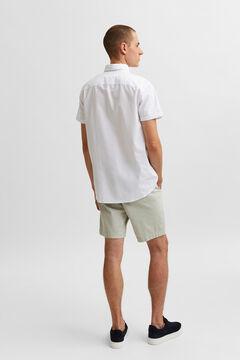 Cortefiel Camisa lisa Blanco