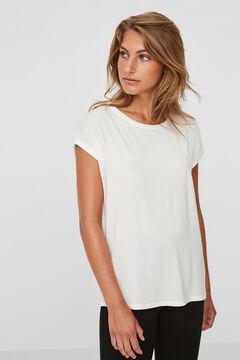 Cortefiel Camiseta tejido sostenible Blanco