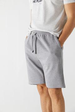 Cortefiel Loungewear jersey-knit trousers Dark gray