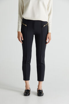 Cortefiel Ponte Roma trousers Black