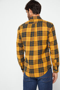 Cortefiel Casual checked shirt Yellow