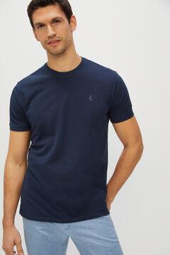 Cortefiel Short-sleeved T-shirt Navy