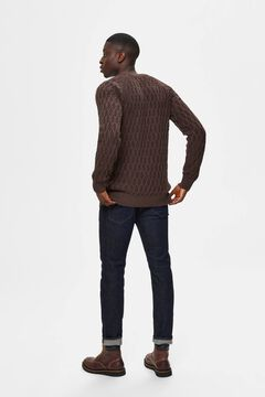 Cortefiel Cable pattern jumper Tobaco