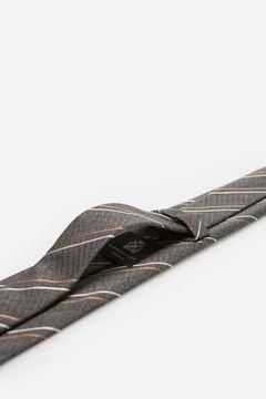 Cortefiel Corbata rayas Gris